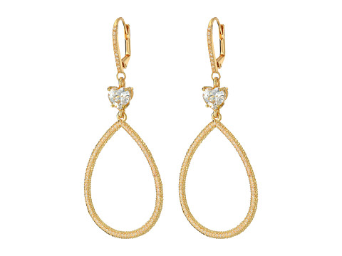Betsey Johnson - All That Glitters Gypsy Hoop Earrings (Crystal) Earring