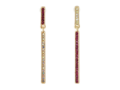 Betsey Johnson - Casino Royale Mismatch Pave Earrings (Pink/Crystal) Earring