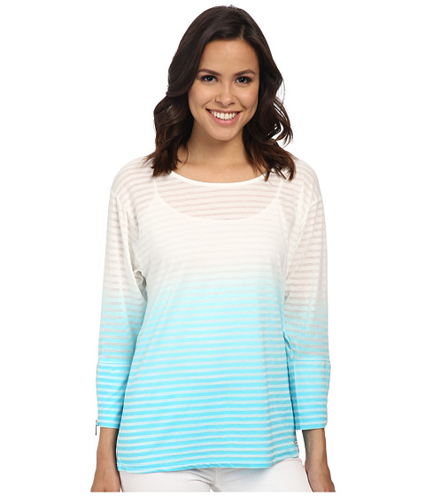 Calvin Klein - Burn Out Stripe Dolman (Manganese) Women