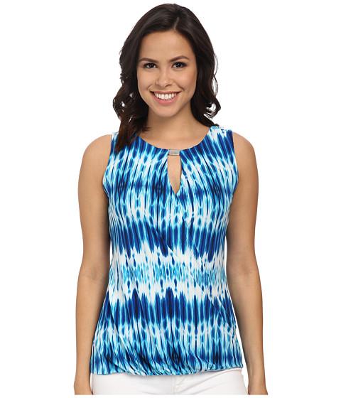 Calvin Klein - Sleeveless Drape Top w/ Hardware (Adritc Blue Multi) Women