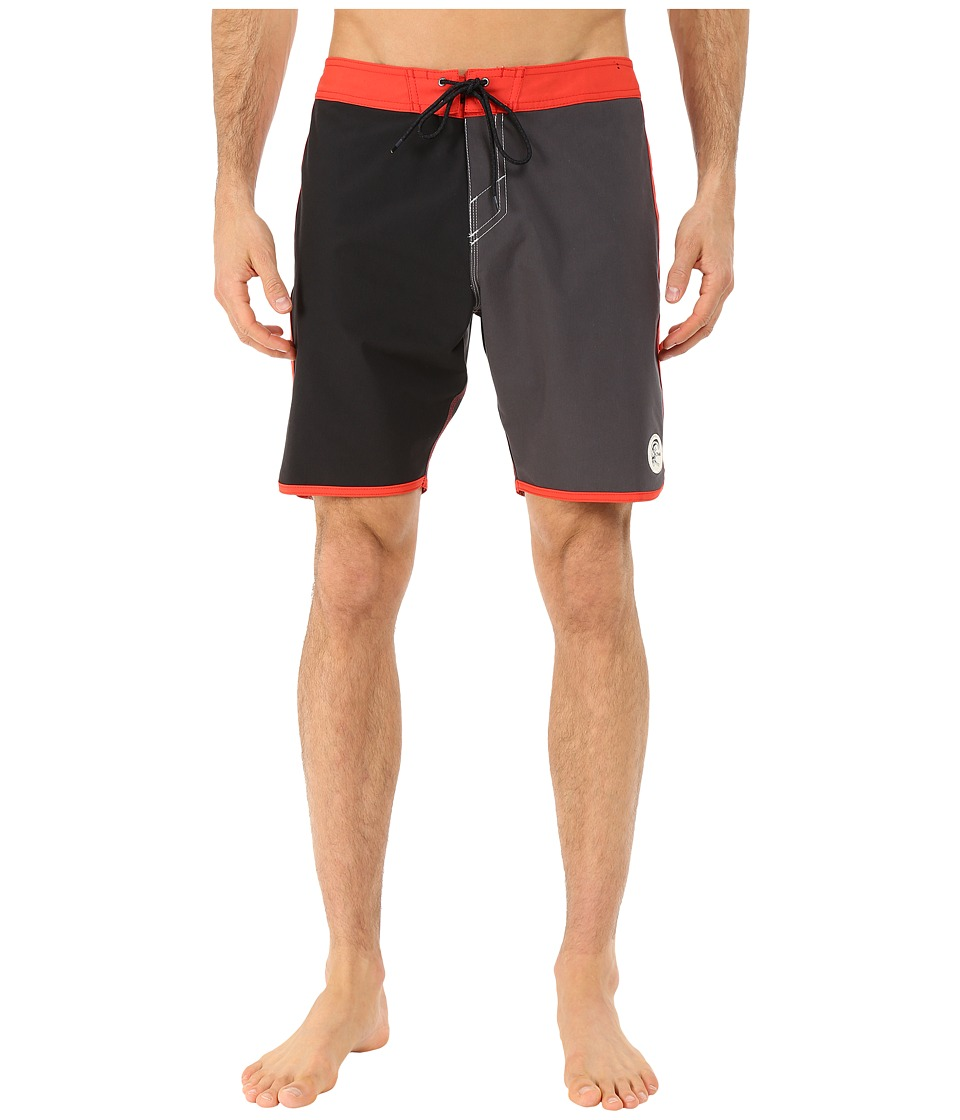 O'Neill - Santa Cruz Original Scallop Boardshorts (Aurora Red) Men's Swimwear