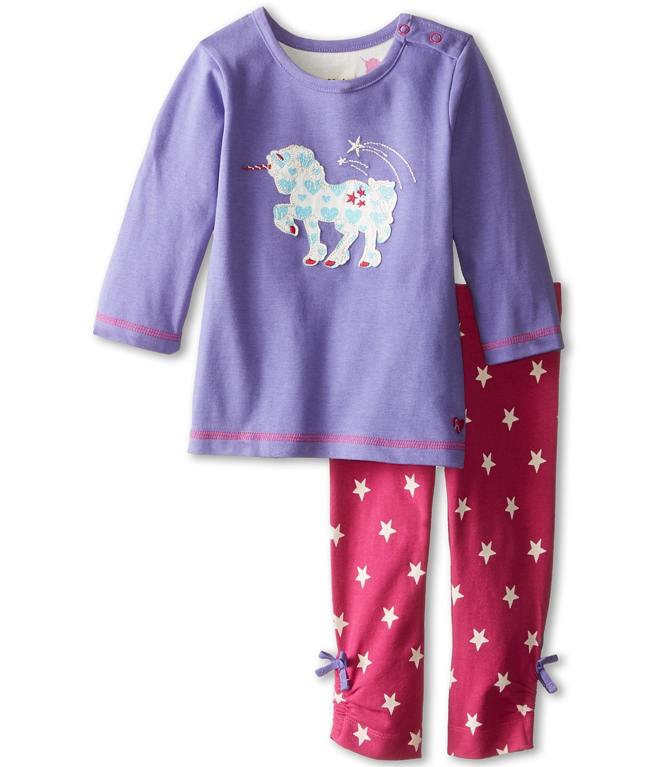 Hatley Kids - Long Sleeve Tee Leggings Set - Unicorns (Infant) (Purple) Girl's Active Sets