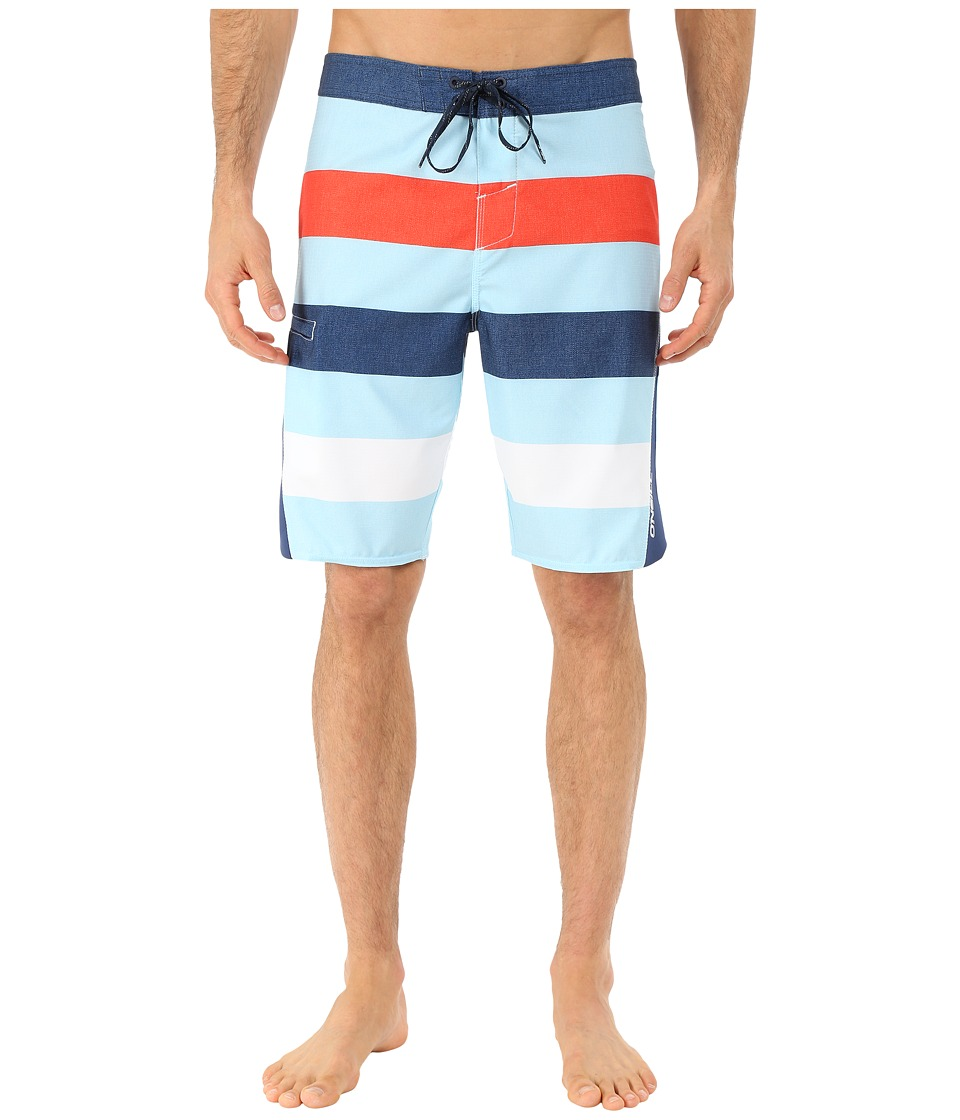 O'Neill - Superfreak Scallop Superfreak Series Boardshort (Pale Blue) Men's Swimwear