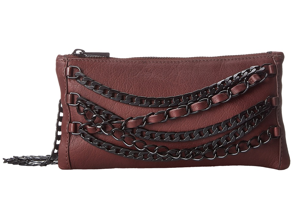 ASH - Domino Chain Crossbody (Dark Wine/Matte Black) Handbags