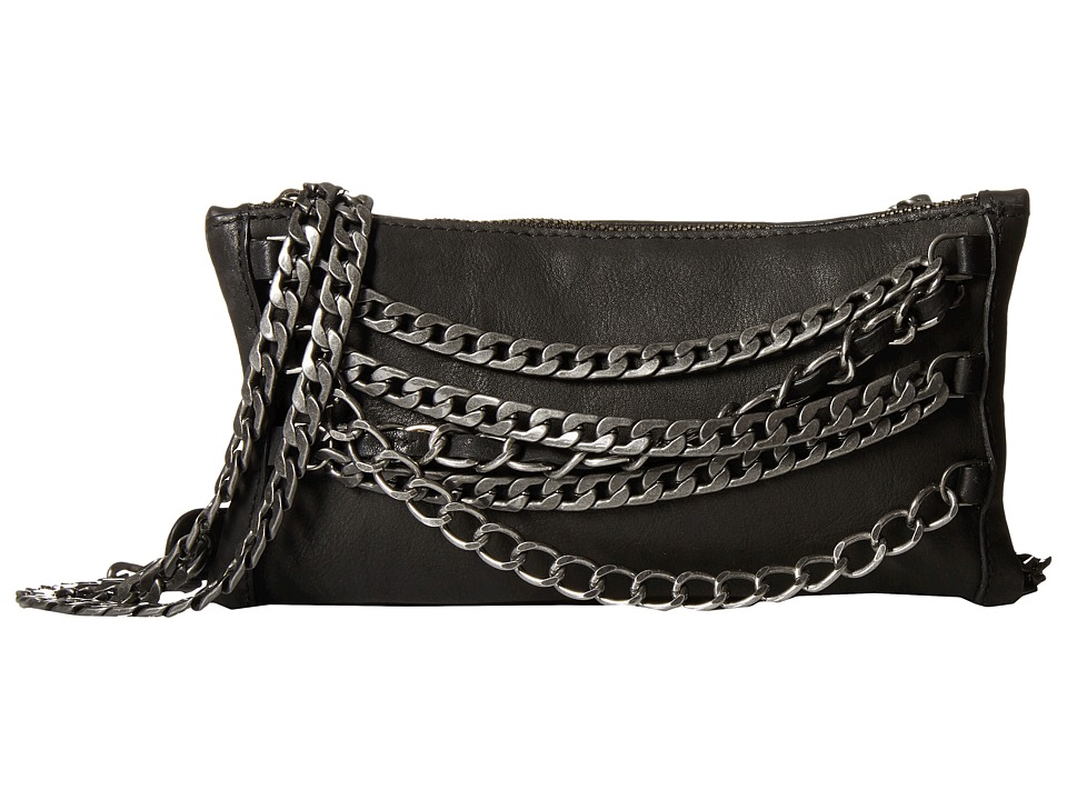 ASH - Domino Chain Crossbody (Black/Tarnish Silver) Handbags