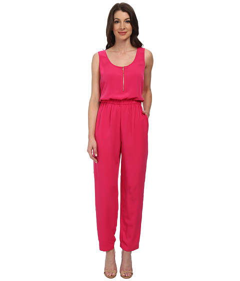 Calvin Klein - Solid Pebble Crepe Jumpsuit (Hibiscus) Women's Jumpsuit & Rompers One Piece