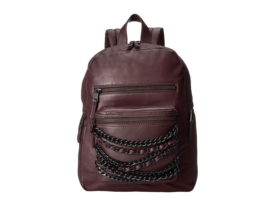 ASH - Domino Chain- Small Backpack (Dark Wine/Matte Black) Backpack Bags