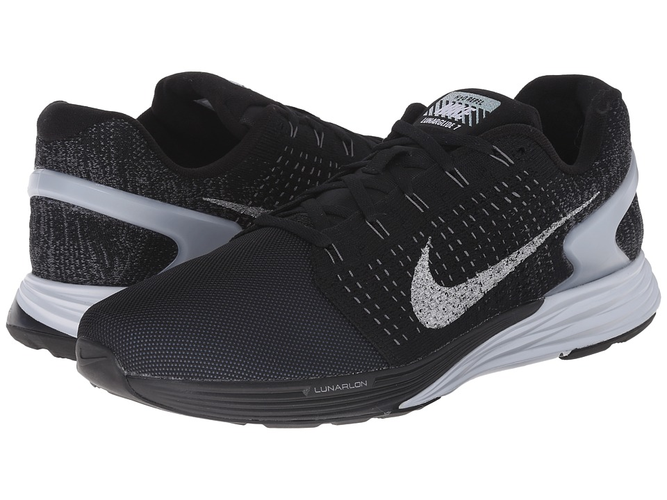 Nike - Lunarglide 7 Flash (Black/Pure Platinum/Dark Grey/Reflect Silver) Men's Running Shoes