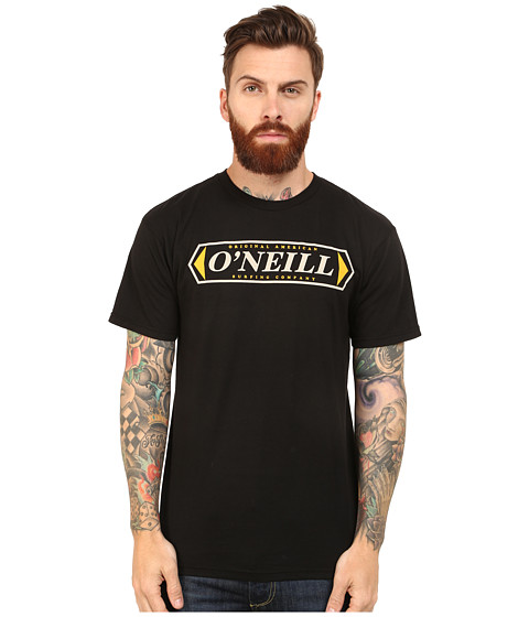 O'Neill - Docks Short Sleeve Sreens Impression T-Shirt (Black) Men's Short Sleeve Pullover