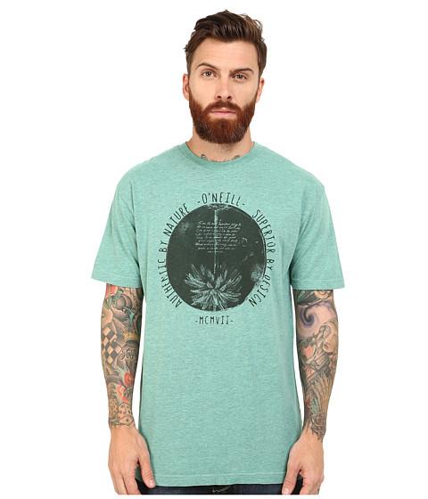 O'Neill - Inside Out Short Sleeve Screens Impression T-Shirt (Aqua) Men's Short Sleeve Pullover