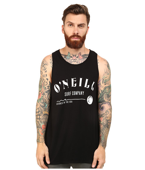 O'Neill - Shaping Bay Screens Impression Tank Top (Black) Men's Sleeveless