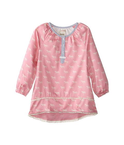 Hatley Kids - Pom Pom Tunics - Running Horses (Toddler/Little Kids/Big Kids) (Pink) Girl