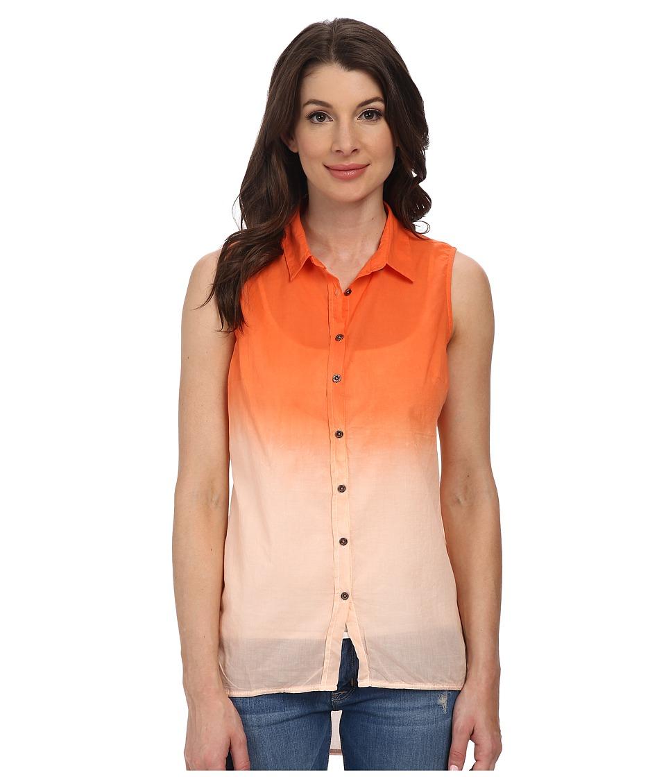 Mavi Jeans - Sleeveless Shirt (Coral) Women's Sleeveless
