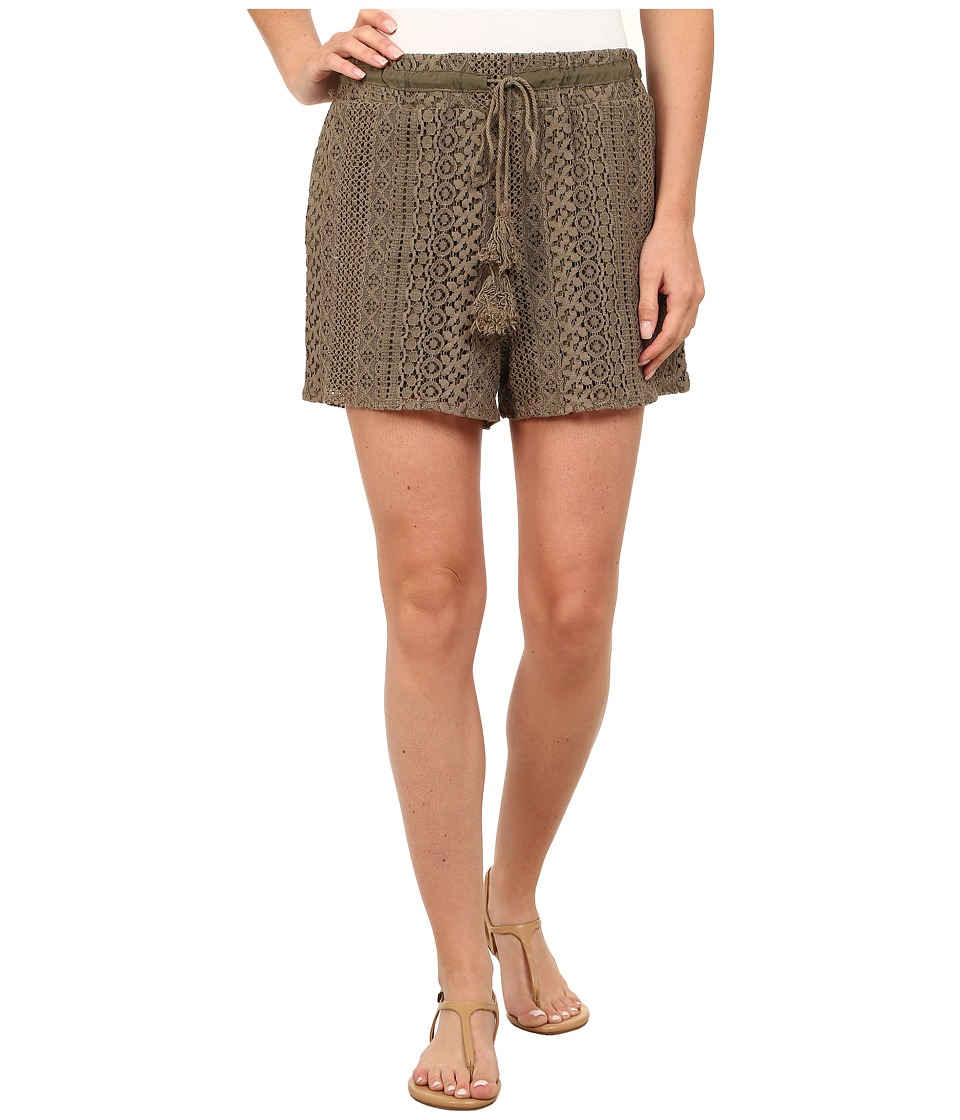 Dylan by True Grit - Navajo Lace Drawstring Shorts with Lining (Cargo) Women's Shorts