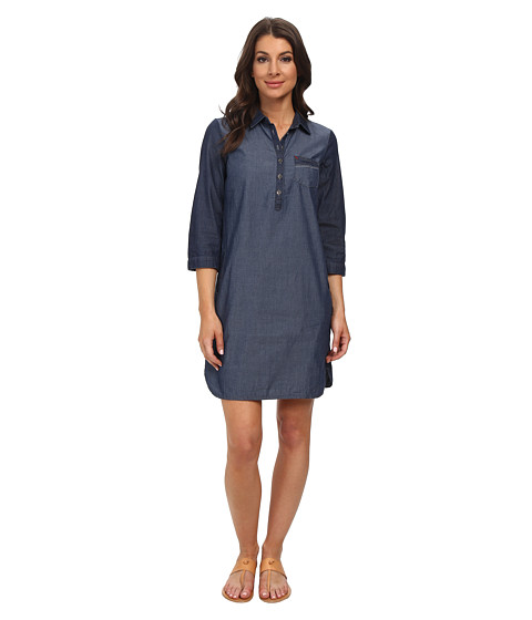 Mavi Jeans - Button Detailed Dress (Dark Indigo) Women's Dress