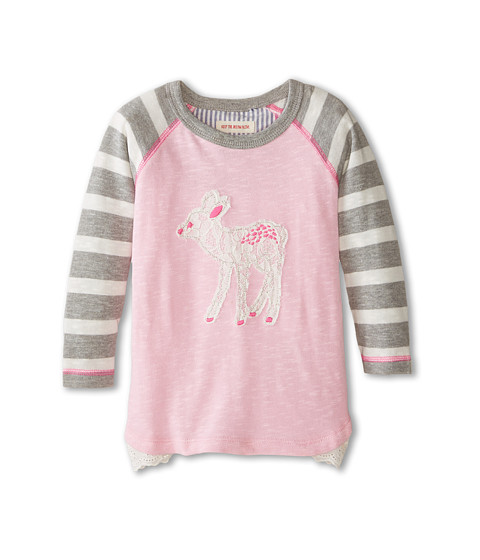 Hatley Kids - Raglan Tee - Soft Deer (Toddler/Little Kids/Big Kids) (Pink) Girl's Long Sleeve Pullover