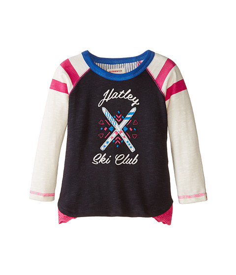 Hatley Kids - Raglan Tee - Ski Club (Toddler/Little Kids/Big Kids) (Blue) Girl's Clothing