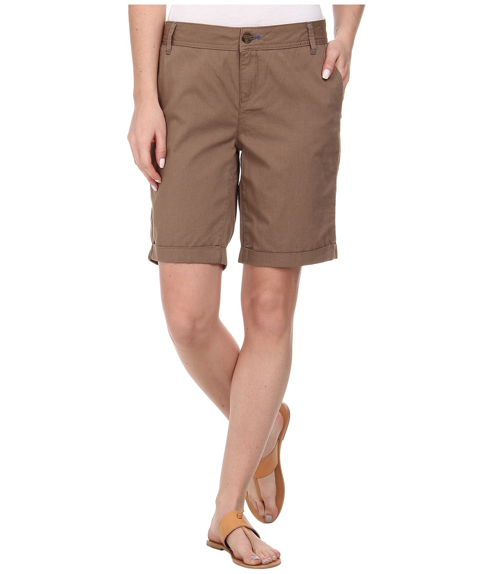 Mavi Jeans - Gabardine Shorts (Brown) Women's Shorts