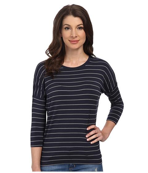 Mavi Jeans - Long Sleeve Striped Tee (Deep Navy) Women