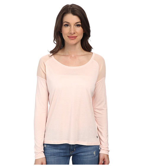 Mavi Jeans - Long Sleeve Tee (Light Pink) Women's T Shirt