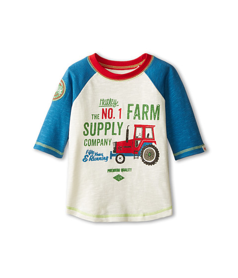 Hatley Kids - Raglan Tee - Farm Team (Toddler/Little Kids/Big Kids) (White) Boy's Clothing