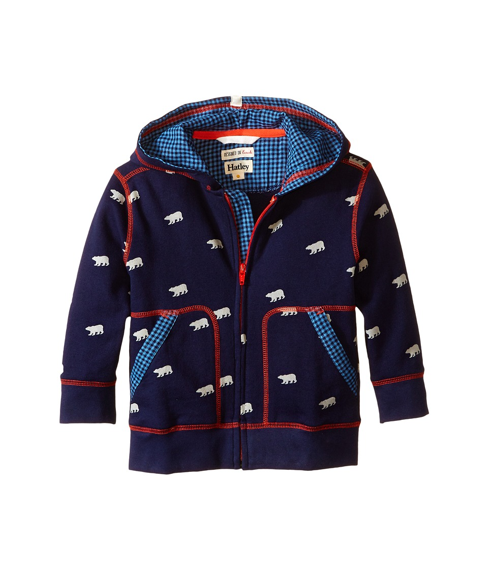 Hatley Kids - Hoodie - Polar Bears (Toddler/Little Kids/Big Kids) (Blue) Boy
