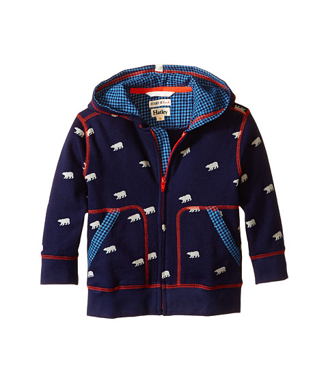 Hatley Kids - Hoodie - Polar Bears (Toddler/Little Kids/Big Kids) (Blue) Boy's Sweater