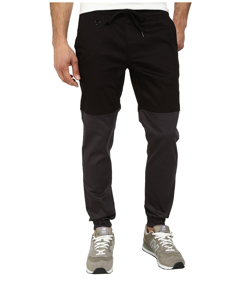 Publish - Two-Tone Joggers Pants (Black/Charcoal) Men's Casual Pants