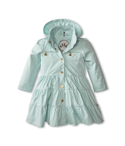 Oil & Water - Twirl Coat (Toddler/Little Kids/Big Kids) (Aqua) Girl's Coat