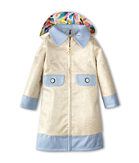 Oil & Water - Dahlia Coat (Toddler/Little Kids/Big Kids) (Ivory/Blue) Girl's Coat