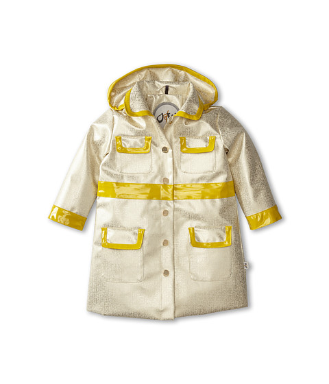 Oil & Water - City Coat (Toddler/Little Kids/Big Kids) (Bronzed White/Chartreuse) Girl's Coat