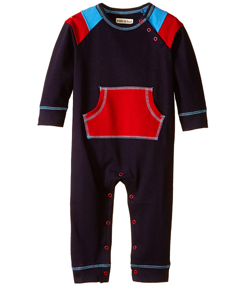 Hatley Kids - Kangaroo Pocket Romper - Ski Patrol (Infant) (Blue) Boy