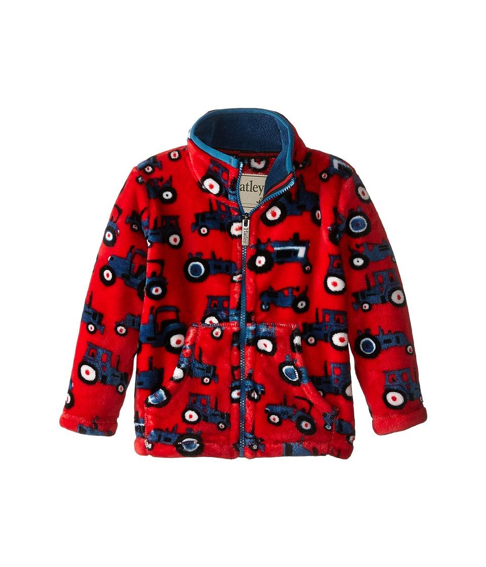 Hatley Kids - Fuzzy Fleece Jacket - Farm Tractors (Toddler/Little Kids/Big Kids) (Red) Boy