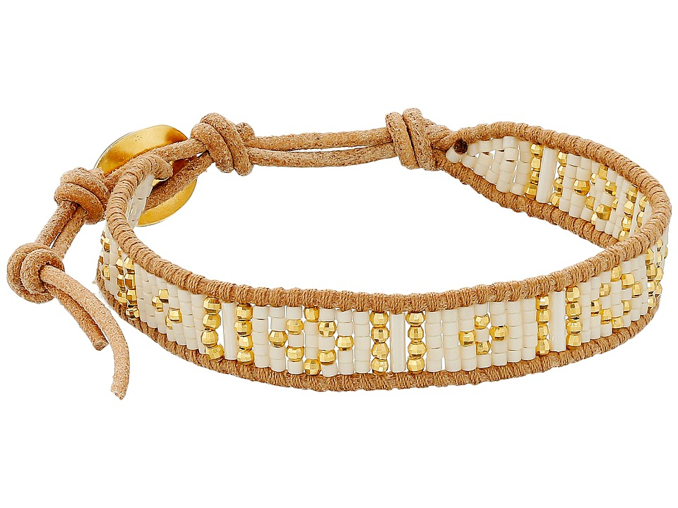 Chan Luu - 6 Seed Bead Single (Cream Mix/Beige) Bracelet