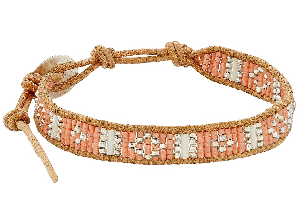 Chan Luu - 6 Seed Bead Single (Peach Mix/Beige) Bracelet