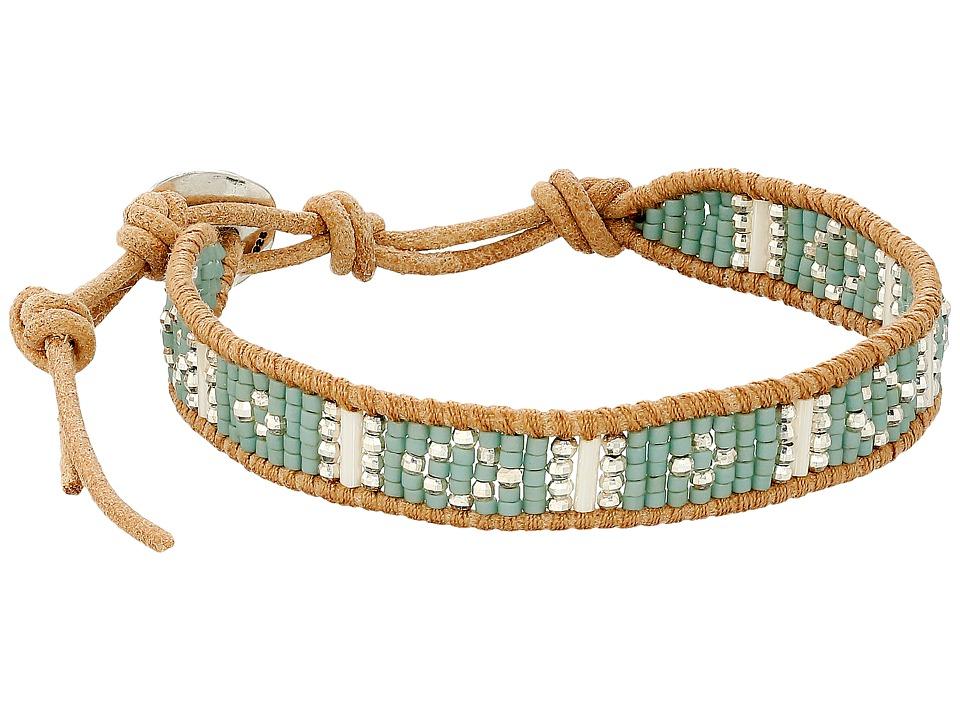 Chan Luu - 6 Seed Bead Single (Seafoam Mix/Beige) Bracelet