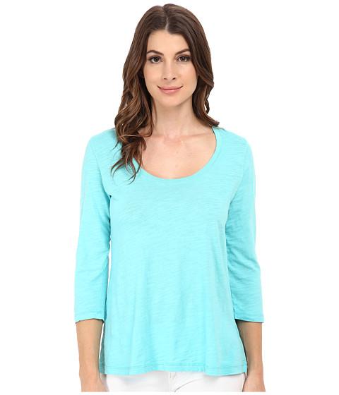 Mod-o-doc - Slub Jersey 3/4 Sleeve Scoop Neck Tee (Atlantic) Women's Long Sleeve Pullover