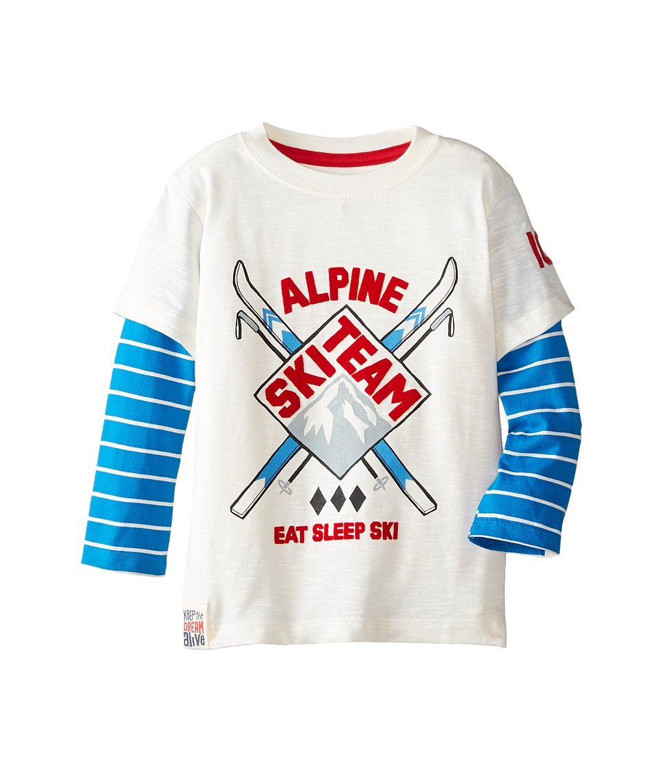 Hatley Kids - 2-in-1 Tee - Ski Team (Toddler/Little Kids/Big Kids) (White) Boy's Clothing