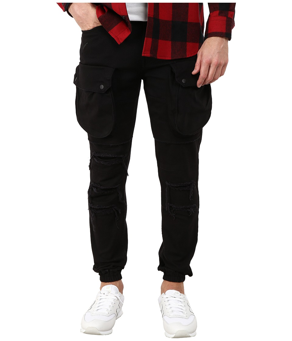 Publish - Crow Washed Cargo Fit Pants (Black) Men's Casual Pants