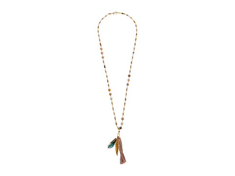 Chan Luu - 33 Necklace w/ Charms (African Opal) Necklace