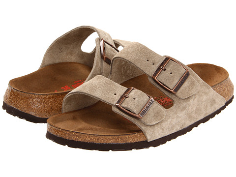 Birkenstock - Arizona High Arch (Unisex) (Taupe Suede High Arch) Sandals