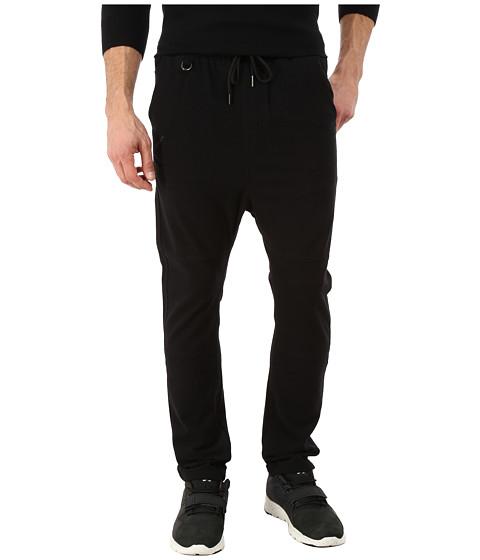 Publish - Molter Knit Drop Stack Pants (Black) Men's Casual Pants