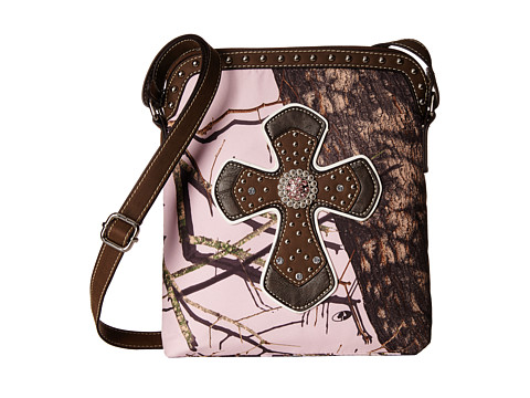 M&F Western - Mossy Oak Crossbody (Pink/Mossy Oak) Cross Body Handbags
