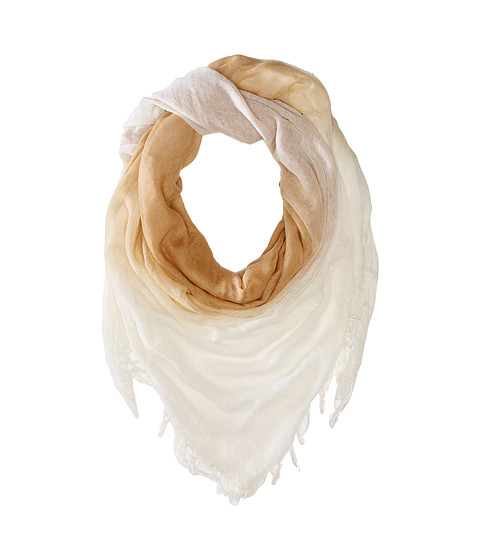 Chan Luu - Shadow Dye Cashmere and Silk Scarf (Toast Coconut/White) Scarves