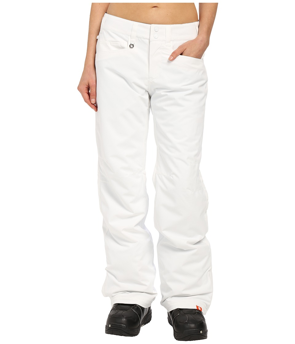 Roxy - Backyard Snow Pants (Bright White) Women