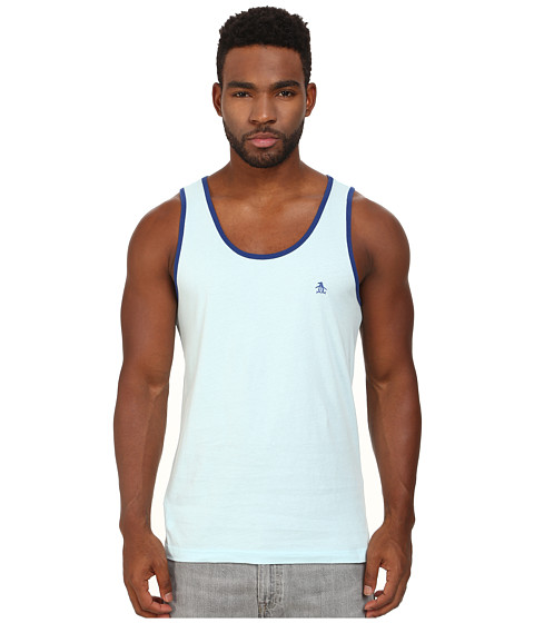 Original Penguin - Earl Heritage Tank Top (Crystal Blue) Men's Sleeveless