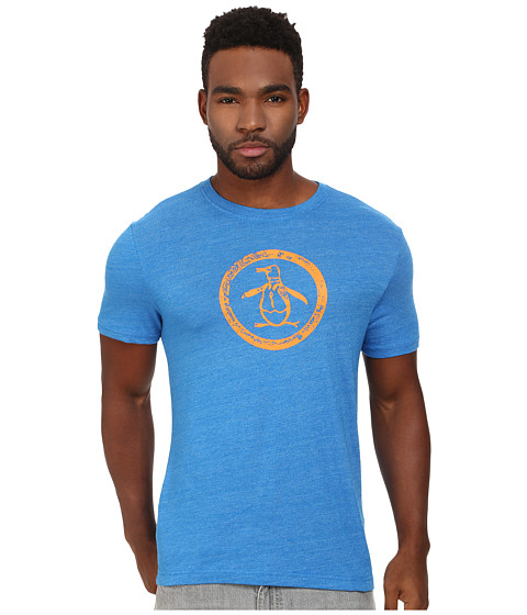 Original Penguin - Triblend Distressed Circle Logo Tee (Skydiver) Men's T Shirt