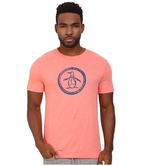 Original Penguin - Triblend Distressed Circle Logo Tee (Georgia Peach) Men's T Shirt