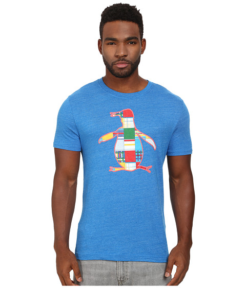 Original Penguin - The Madras Pete Fill Heritage Tee (Skydiver) Men's T Shirt