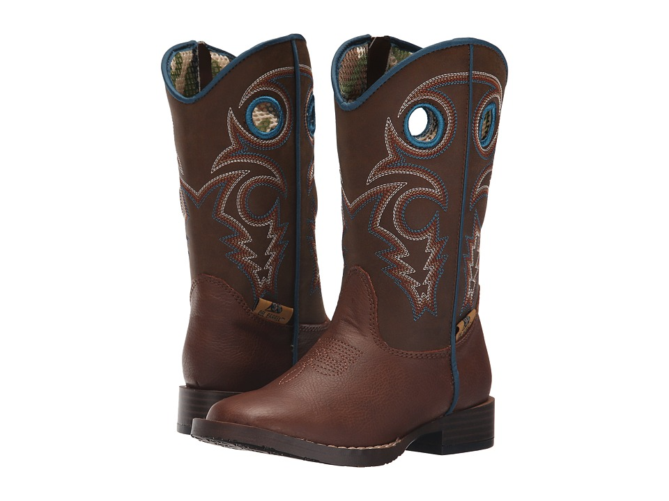 M&F Western Kids Dylan Zip (Toddler) (Brown) Cowboy Boots